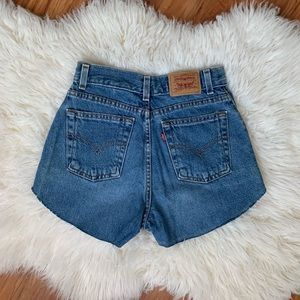 Levi's vintage high rise cut off shorts